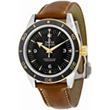 Omega Seamaster Black Dial Brown Leather Automatic Mens Watch 233.22.41.21.01.001