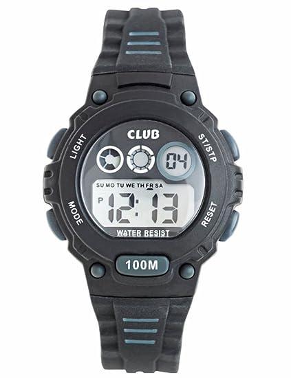 Club Joven Reloj de pulsera digital reloj, niños Deportes 10 bar impermeable Digital Relojes con