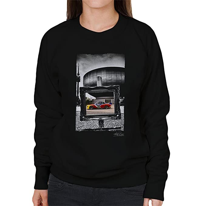 Martyn Goddard Official Photography - BMW Art Car Calder Black Frame Womens Sweatshirt: Amazon.es: Ropa y accesorios