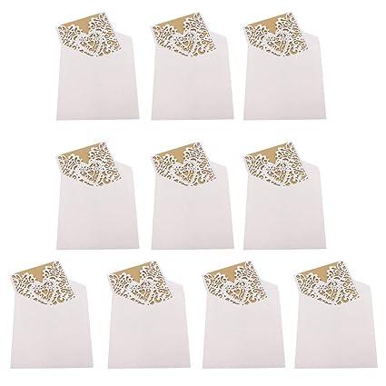 Amazon Com 10pcs Wedding Invitation Cards Love Heart