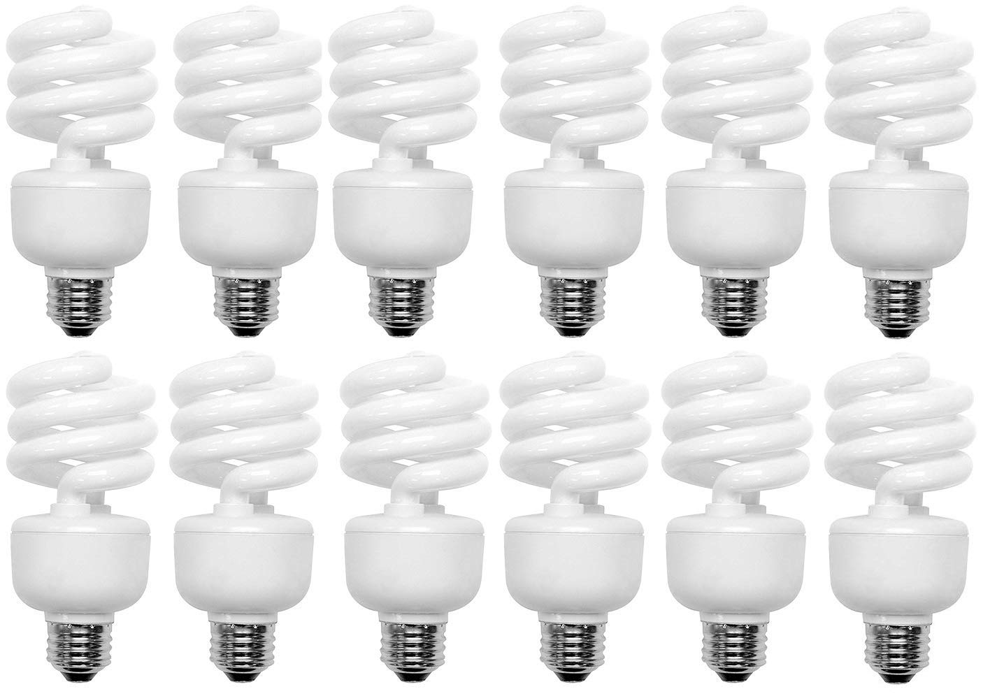 100 Watt CFL Spiral, 12 Pack, Soft White (2700K) Light Bulbs