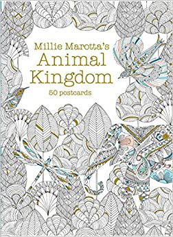 millie marottas animal kingdom postcard box 50 postcards a millie marotta adult coloring book