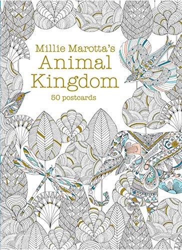 Millie Marotta's Animal Kingdom (Postcard Box): 50 Postcards (A Millie Marotta Adult Coloring Book)