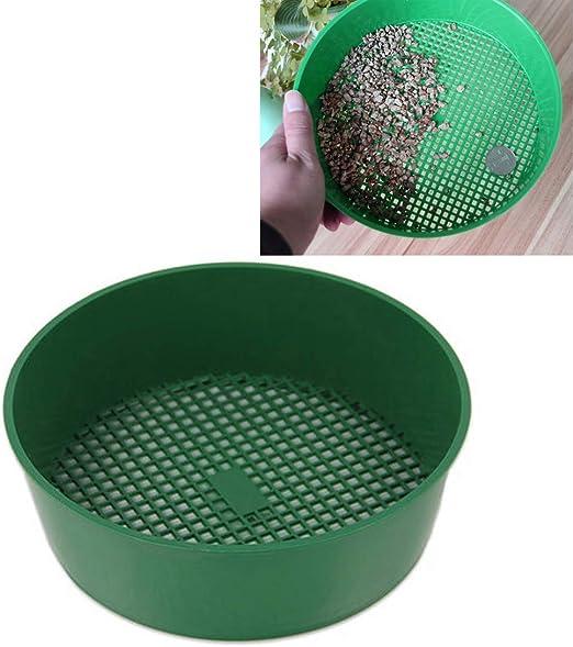 Zhangl Hogar y jardín Tamiz de Malla de plástico Tamiz de Tierra PE Plástico Net Gafas de Herramientas de jardinería Artículos de jardinería, tamiz Diámetro: 3 x 3.5 mm Hogar y jardín: