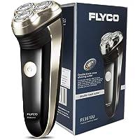 FLYCO Rasoio Elettrico FS361EU Ricaricabile Rasoio Barba 3 Testine Rotanti Per Rasatura Regolabarba Nero Rasoio Elettrico Uomo Shaver Electric