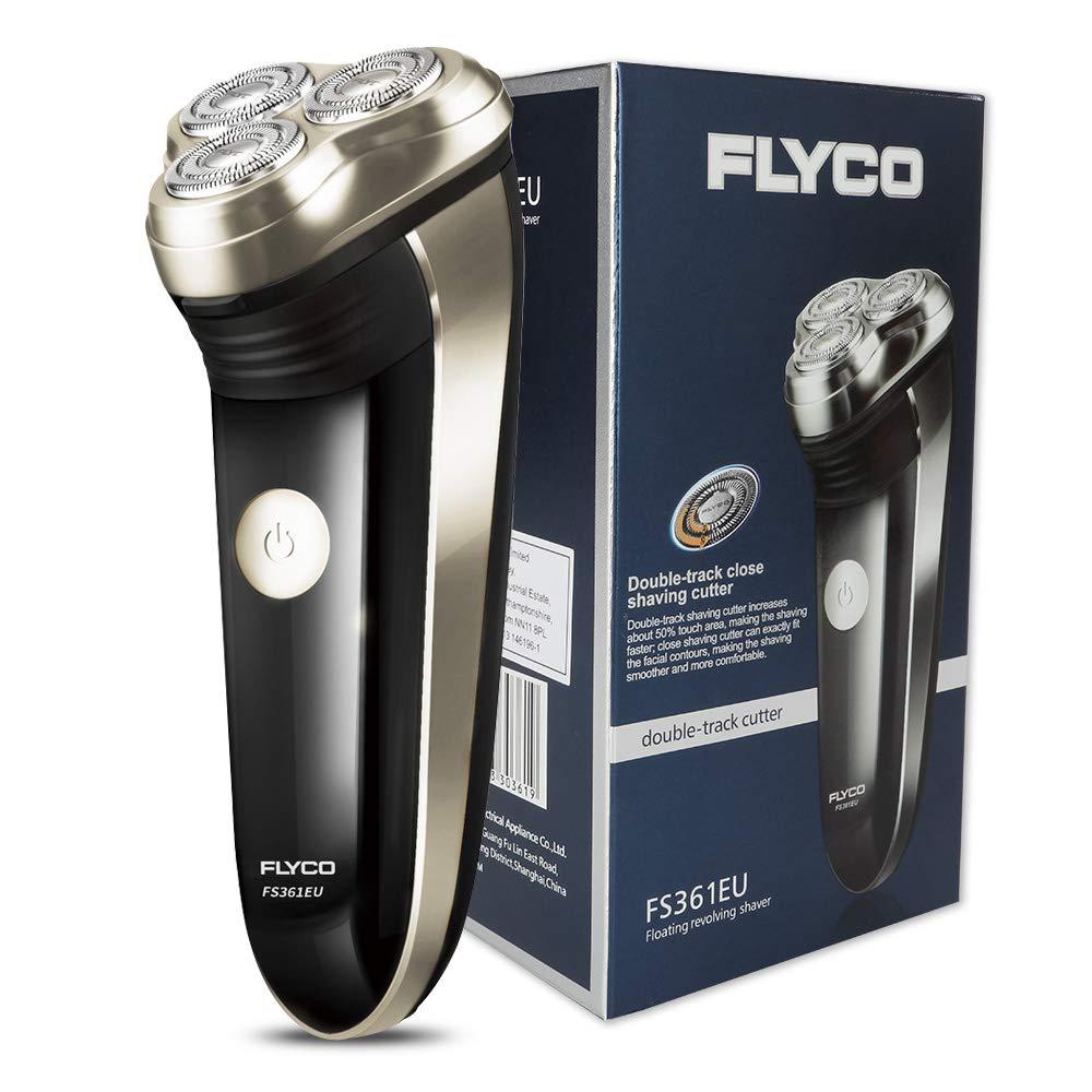 超特価激安 FLYCO電気シェーバーFS361EU、充電式メンズロータリーシェーバー、精密ひげ剃り機と充電インジケータ付き B07BFTP69P、ブラック(イギリス2ピンプラグ) B07BFTP69P, ミスターフロントガラス:1b36510d --- mvd.ee