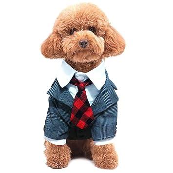 83bf01525a06d Legendog ペット 紳士スーツ おしゃれ ネクタイが付き 犬 服 秋冬 暖かい 愛犬 タキシード 立派 結婚