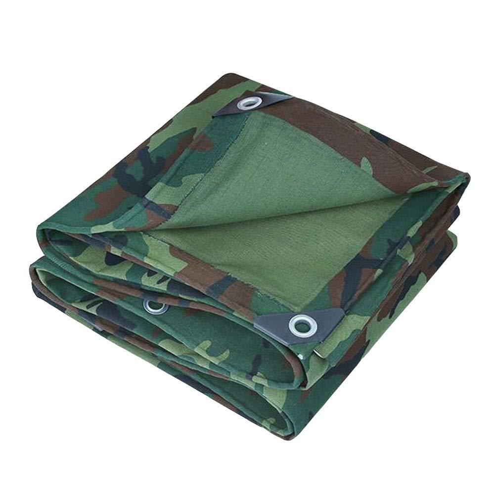 DALL ターポリン 多目的 レインプルーフ 日焼け止め 防水 UVプロテクト ヘビーデューティ キャンバス 厚さ0.8mm 600g / m 2 (Color : 緑, Size : 3×3m) 緑 3×3m