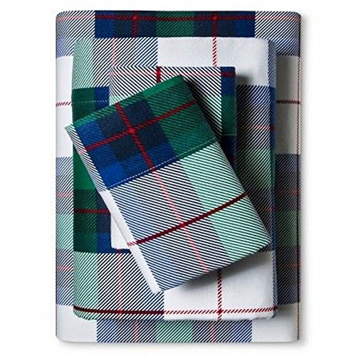 Decor Flannel Sheet Set Blue Green Plaid Full Bed Size Sheets - Sheets Flannel Target