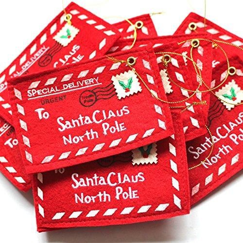 Jocestyle Santa Claus Gift Money Card Holders with Envelopes Christmas Ornament Decor Set of 10 Photo #7