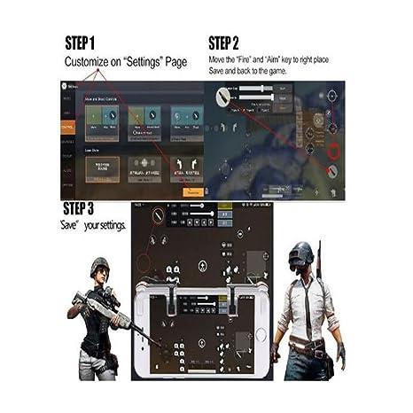 Anpviz Controlador de juego móvil, lanzamiento sensible y botones de apuntar L1 y R1 para PUBG/Fortnite/Reglas de supervivencia para Android y sistema IOS ...