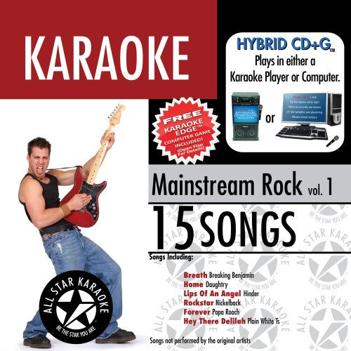 ASK-1553 Mainstream Rock Karaoke Edge, Vol. 1; Daughtry , Nickelback and Plain White Ts