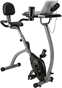 Finether Bicicleta Estática Plegable Magnética con Respaldo ...