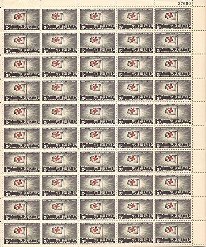 US Stamp 1963 Red Cross Centenary 50 Stamp Sheet - #1239