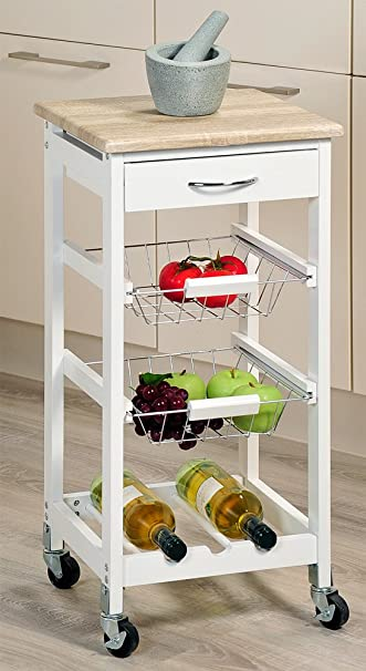 Küchenwagen kesper  Kesper Küchenwagen, Holz, Weiß, 36 x 36 x 77 cm: Amazon.de: Küche ...
