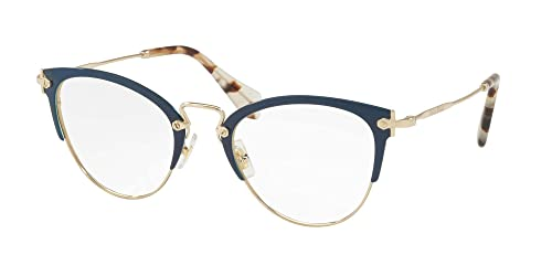 Occhiali Da Vista Miu Miu Noir Evolution Vmu50q Blue Pale Gold Donna