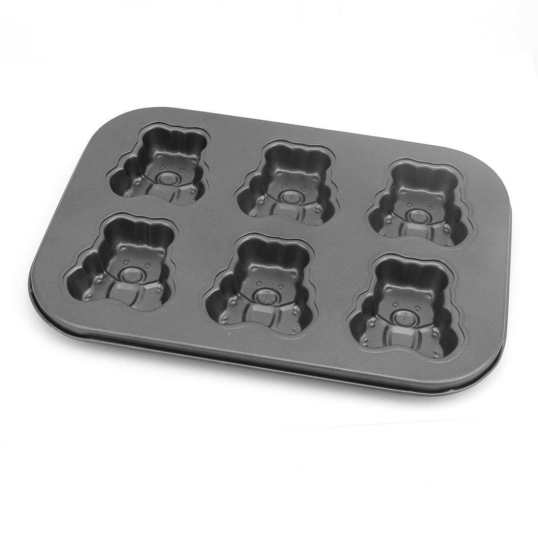 Amazon.com: Forma eDealMax metal galletas del oso de pan pastel de chocolate molde de cocción Pan-6 Cavidad: Kitchen & Dining