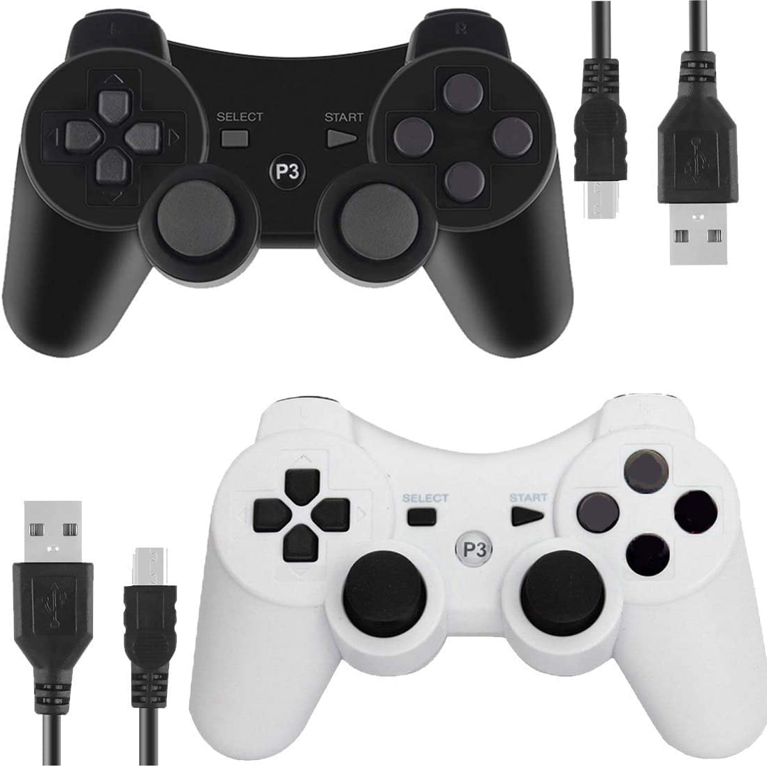 6-FT USB Charging Cable for PS3 Sony Playstation 3 Controller-Black Kailisen