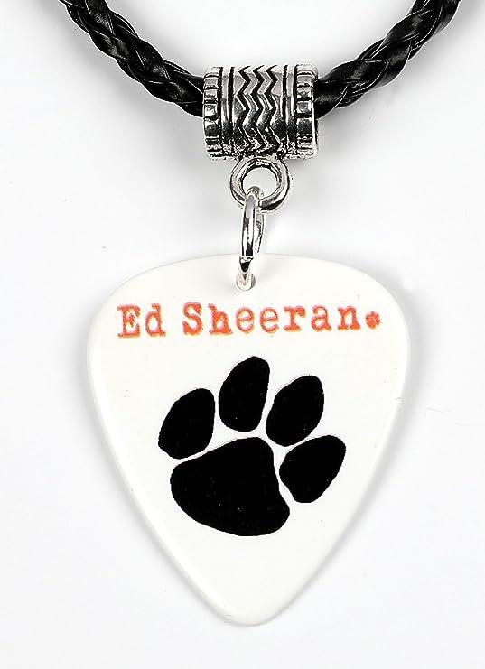 Ed Sheeran negro Paw Print Logo collar de púa de guitarra: Amazon.es: Instrumentos musicales