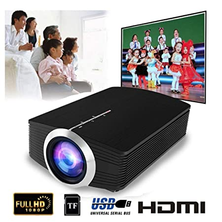 Mengen88 Mini proyector LED portátil a Todo Color LED, 1080P 1800 ...