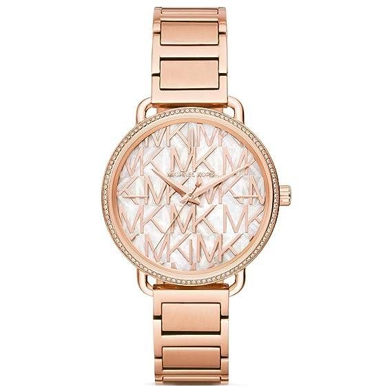Michael Kors Reloj Analógico para Mujer de Cuarzo con Correa en Acero Inoxidable MK3887: Amazon.es: Relojes