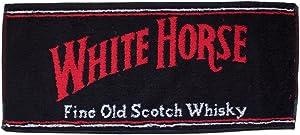 "White Horse Whisky cotton bar towel 19"" x 9"" (pp)"