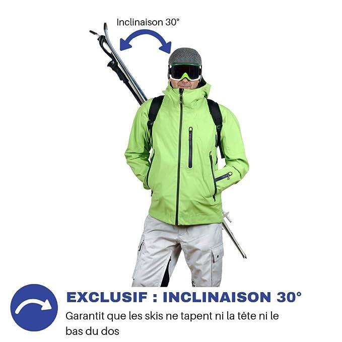 Wantalis Skiback Porte-Skis et bâtons Noir