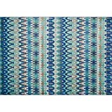 Loloi Rugs Madeline Collection Contemporary Area Rug, 3-Feet 9-Inch by 5-Feet 2-Inch, Blue/Multi