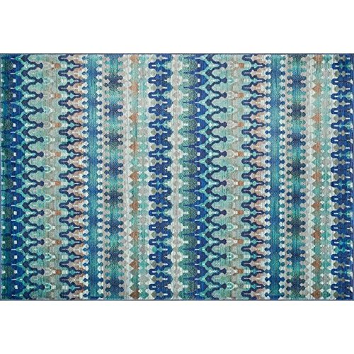 Loloi Rugs Madeline Collection Contemporary Area Rug, 3-Feet 9-Inch by 5-Feet 2-Inch, Blue/Multi by Loloi (Image #2)
