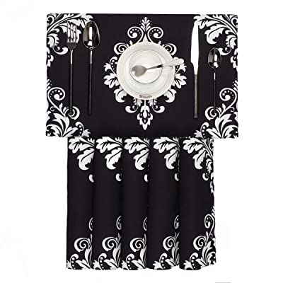BRAWARM Placemats Set of 6 for Dining Table Damask Floral Table ...