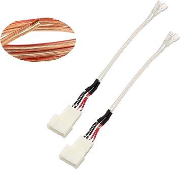 speaker wiring harness adapter amazon com red wolf car front door dash pro tweeter audio speaker  red wolf car front door dash