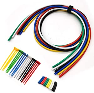 Fermerry 16AWG Electrical Wire16 Gauge Silicone Stranded Wire 6 Colors Spool 3ft each kit Tinned Copper (6 colors 3FT each, 16AWG)