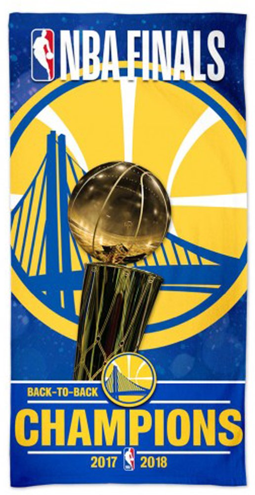 McArthur Golden State Warriors Back to Back 2017-2018 NBA Champions Beach Towel 30 X 60 Inch by McArthur