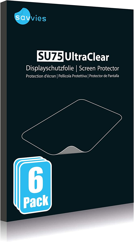 Savvies 6X Schutzfolie kompatibel mit Tomtom GO Essential Displayschutz-Folie Ultra-transparent 6