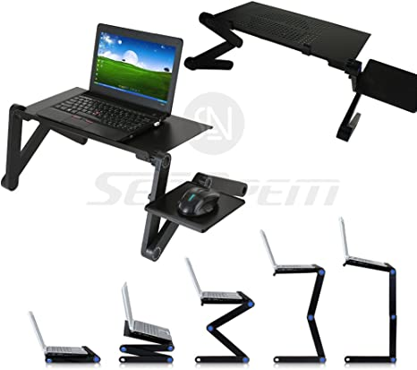 Mesa plegable de cama, de 42 cm x 48 cm, para laptop con soporte ...