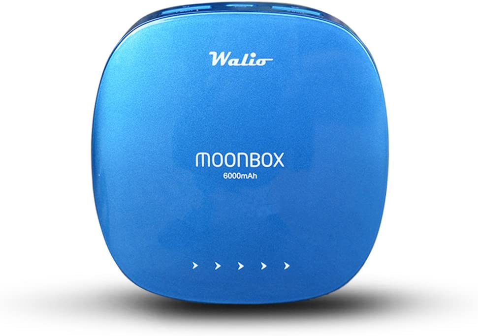 WALIO Power Bank(Batería Externa) 6000 Azul, 6000mAh, Cargador ...