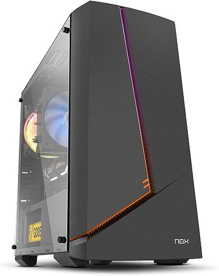 Nox Infinity Alpha - NXINFTYALPHA - Caja PC, Mini Torre, Rainbow ARGB, Color Negro: Nox: Amazon.es: Informática