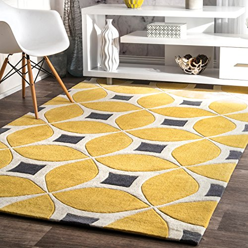 nuLOOM Contemporary Handmade Area Rug, 7-Feet 6-Inch by 9-Feet 6-Inch, Sunflower