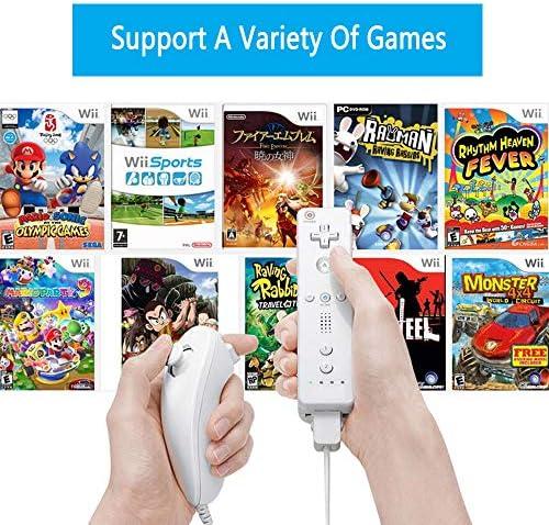 Lactivx - Mando a distancia para Wii, 2 paquetes de control de gestos inalámbrico con funda de silicona y correa de muñeca para consola Wii Wii U (rosa y azul) 9