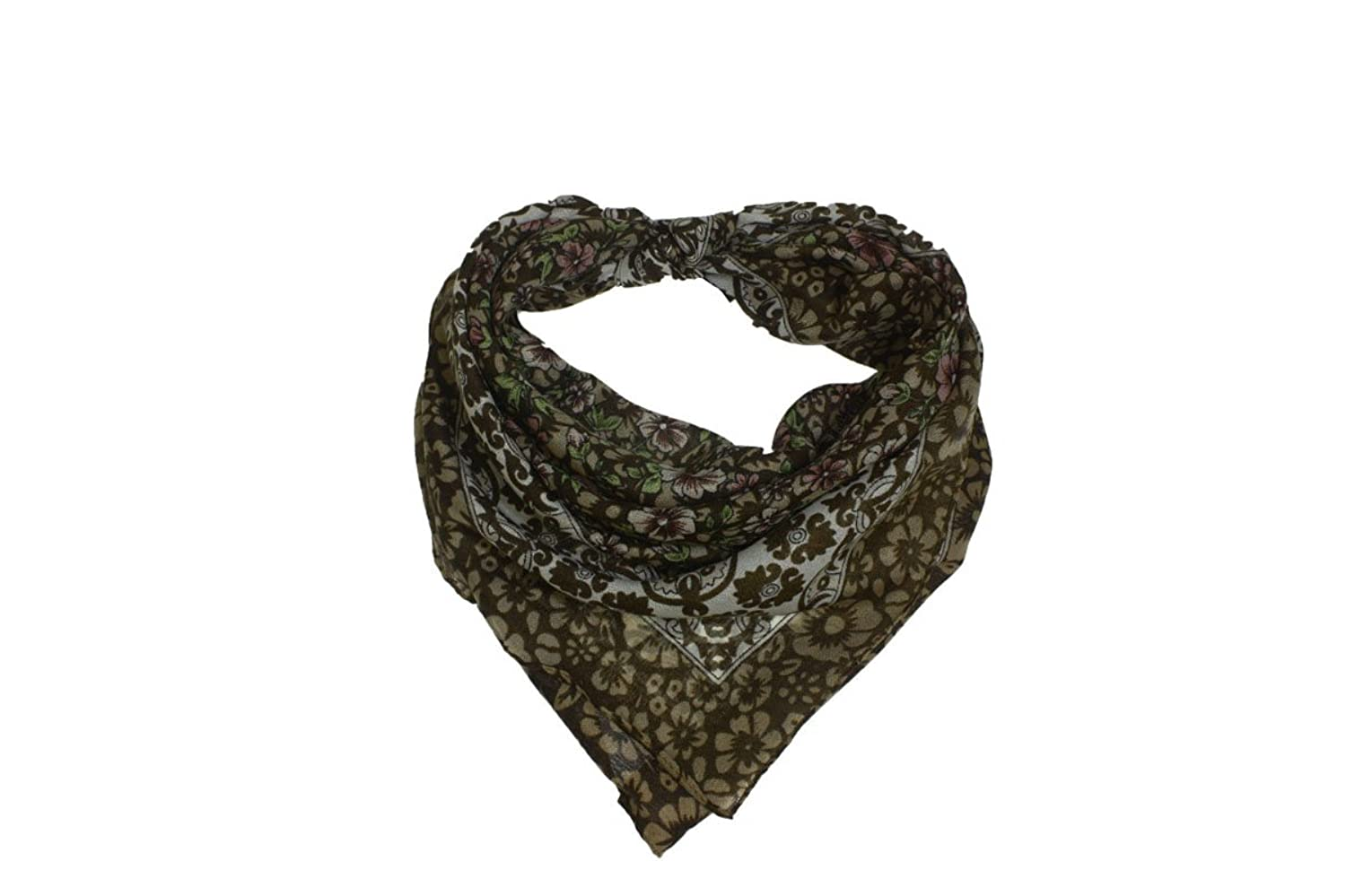 Floral Cocoa Fashion Scarf