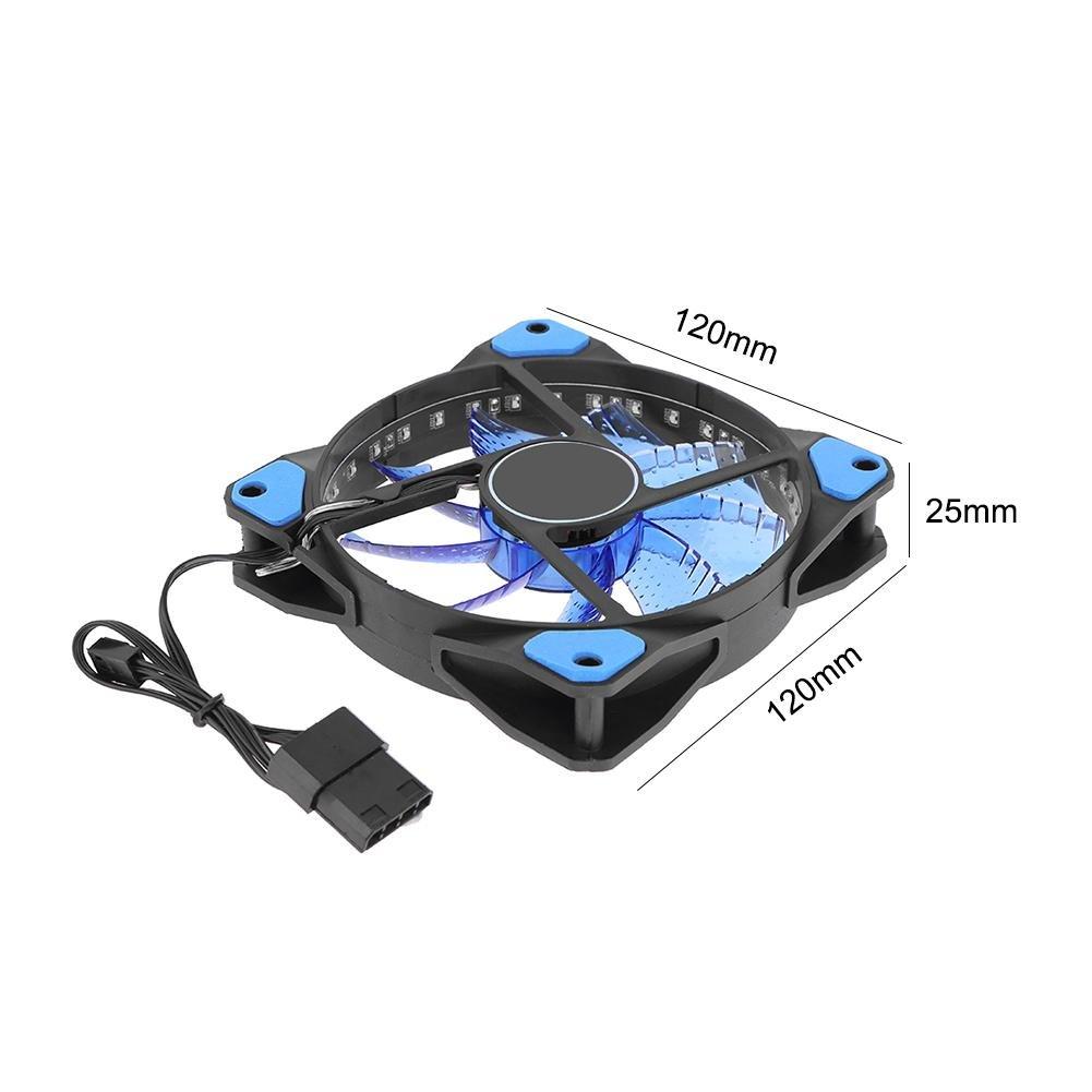 Hillrong PC Computer 33/Lampes LED 120/mm Silencieux unit/é Centrale Dissipateur Cooler Fan