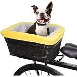 Black 15.7 x 16.9 x 12 SUNLITE RackTop//Handlebar pet Friendly QR Basket