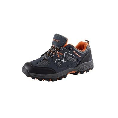 best sneakers 33f79 caf8e Trekk Star Herren Outdoorschuhe Wanderschuhe Trekking Freizeit, Grau/Orange