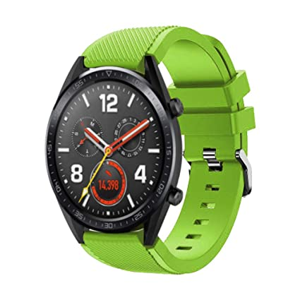 Cywulin for Huawei Watch GT, Huawei Watch 2 Classic Band, 22mm Quick Release Silicone Replacement Strap for Gear S3 Pebble Time Moto 360 LG G Watch ...