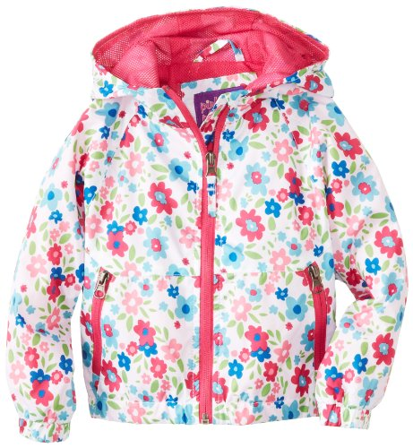 Pink Platinum Girls 2-6X Floral Print Outerwear Jacket, White, 4T