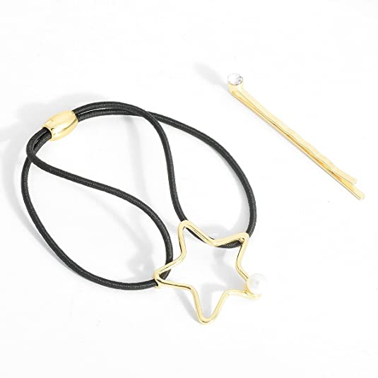 Hair Barrettes Hair Clips Ponytail Holder Set Hair Pin Moon Star Gift Box Pack of 4 17ZTD5034-4 pieces