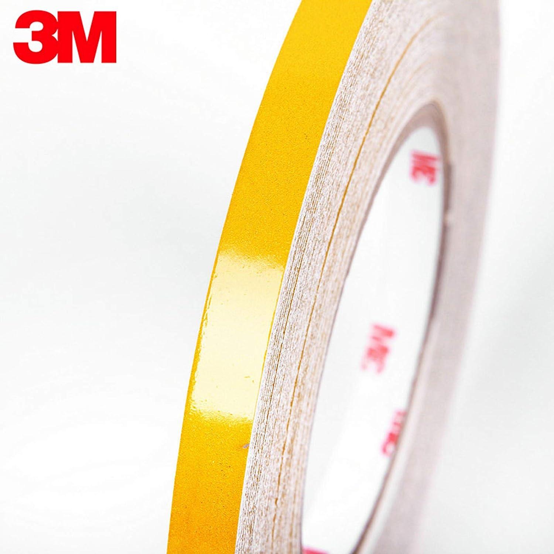 Artudatech 3M Yellow Reflective Body Stripe Trim DIY Sticker Tape Sticker Decal 1CMx150FT