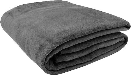Zollner Wolldecke Grau 220 X 240 Cm Baumwollmix Viele Farben Grossen Amazon De Kuche Haushalt