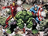 """Edge Home Products Avengers Canvas with LED Lights, 12 by 16"""", Blue"""