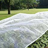 Agfabric Standard Insect Screen & Garden Netting against Bugs, Birds & Squirrels - 6.5'x300' of Mesh Netting, White